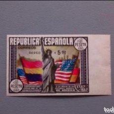 Sellos: ESPAÑA - 1938 - II REPUBLICA - EDIFIL 765 S - MNH** - NUEVO - LUJO - MARQUILLADO - VALOR CAT. 750€.. Lote 153722286