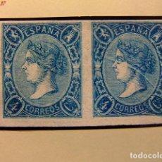 Sellos: ESPAÑA SPAIN 1865 ISABEL II EDIFIL NE 2 YVERT 66 SIN GOMA MUY RARO CERT.GRAUS. Lote 154748262