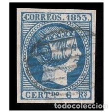 Sellos: ESPAÑA 1853. EDIFIL 21. ISABEL II (-LUJO- BUENOS MARGENES) USADO. Lote 154849434