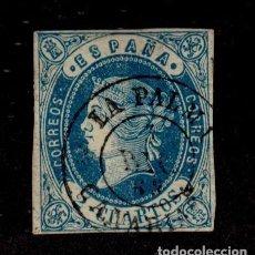 Sellos: CL2-478 ESPAÑA ISABEL II 2 CUARTOS EDIFIL Nº 57 CON MATASELLOS DE FECHA DE LA PALMA (CANARIAS). Lote 155352018