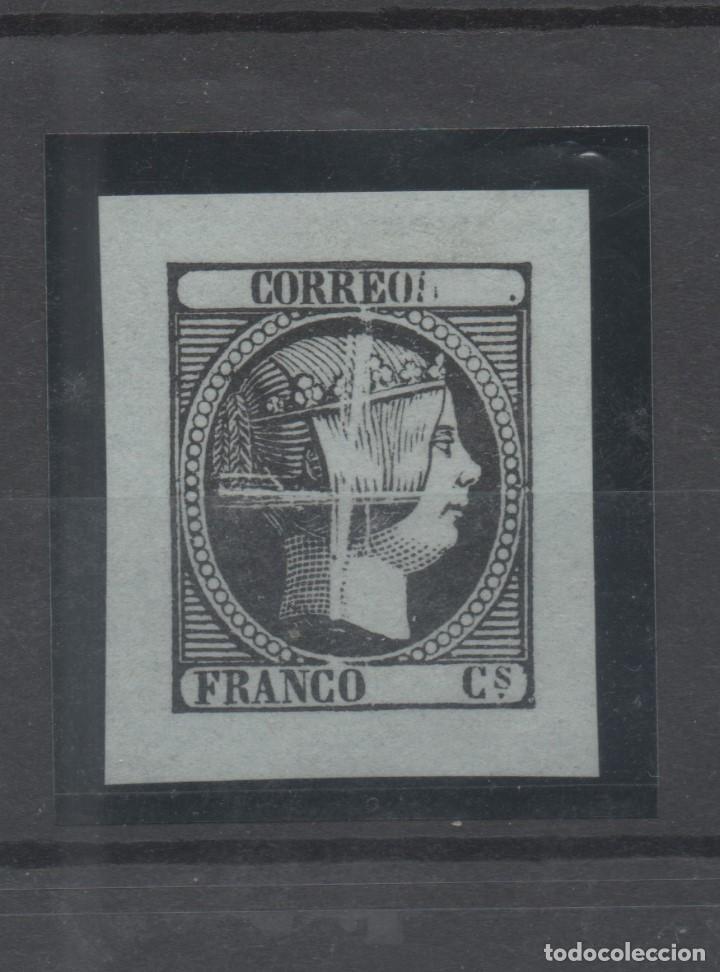 ESPAÑA=Nº 17_ISABEL 2ª_PRUEBA DEL PUNZON LIMADO_NUEVA SIN GOMA_VER FOTOS (Sellos - España - Isabel II de 1.850 a 1.869 - Nuevos)