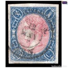 Sellos: ESPAÑA 1865. EDIFIL 70. ISABEL II (-LUJO- BUENOS MARGENES. USADO. Lote 155952878