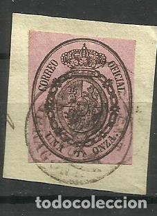 ESPAÑA 1855 USADO (BONITO MATASELLO) (Sellos - España - Isabel II de 1.850 a 1.869 - Usados)
