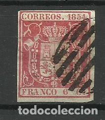 ESPAÑA 1854 USADO (Sellos - España - Isabel II de 1.850 a 1.869 - Usados)