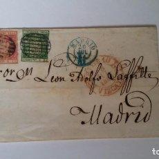 Sellos: CARTA ISABEL II DE BILBAO A MADRID. Lote 156531506