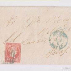 Sellos: CARTA ENTERA DE GIJÓN A SALAS, ASTURIAS. 1854. PARRILLA Y FECHADOR AZUL. Lote 156558218