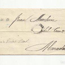 Sellos: IMPRESO CIRCULADO 1869 DE SOCIEDAD CREDITO Y COMERCIO DE BARCELONA A ALMADEN CIUDAD REAL. Lote 156603758