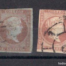 Sellos: ESPAÑA 1856 EDIFIL 40 Y 48 USADO - 3/14. Lote 156683950