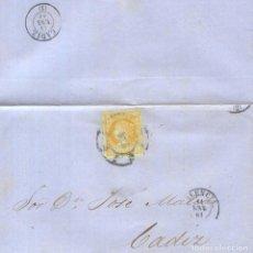 Sellos: AÑO 1860 EDIFIL 52 ISABEL II ENVUELTA MATASELLOS RUEDA DE CARRETA 8 VALENCIA. Lote 156693286