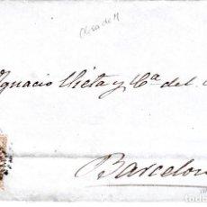 Sellos: CARTA COMPLETA CON SELLO NUM. 96 DE JUAN CAMPANÁS EN OLESA DE MONTSERRAT -1868- PARRILLA CON CIFRA . Lote 156724966
