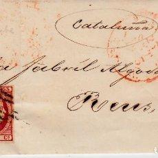 Sellos: CARTA ENTERA CON SELLO NUM. 48 DE JUAN ALMOR DE ZARAGOZA - 1853 - . Lote 156729126