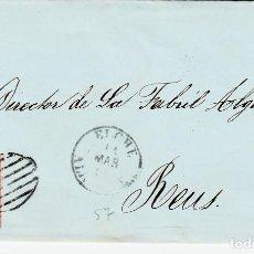 Sellos: CARTA ENTERA CON SELLO NUM. 48 DE JOSE MARIA LOPEZ EN ELCHE - 1857-. Lote 156746830