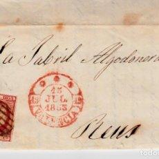 Sellos: CARTA ENTERA CON SELLO NUM. 48 DE JORGE MIRALLES - VALENCIA - 1853. Lote 156749558