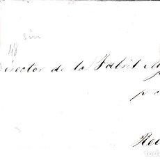 Sellos: CARTA ENTERA CON SELLO NUM. 48 DE JOAQUIN MEDIANO EN BARBASTRO -HUESCA- 1856. Lote 156750290