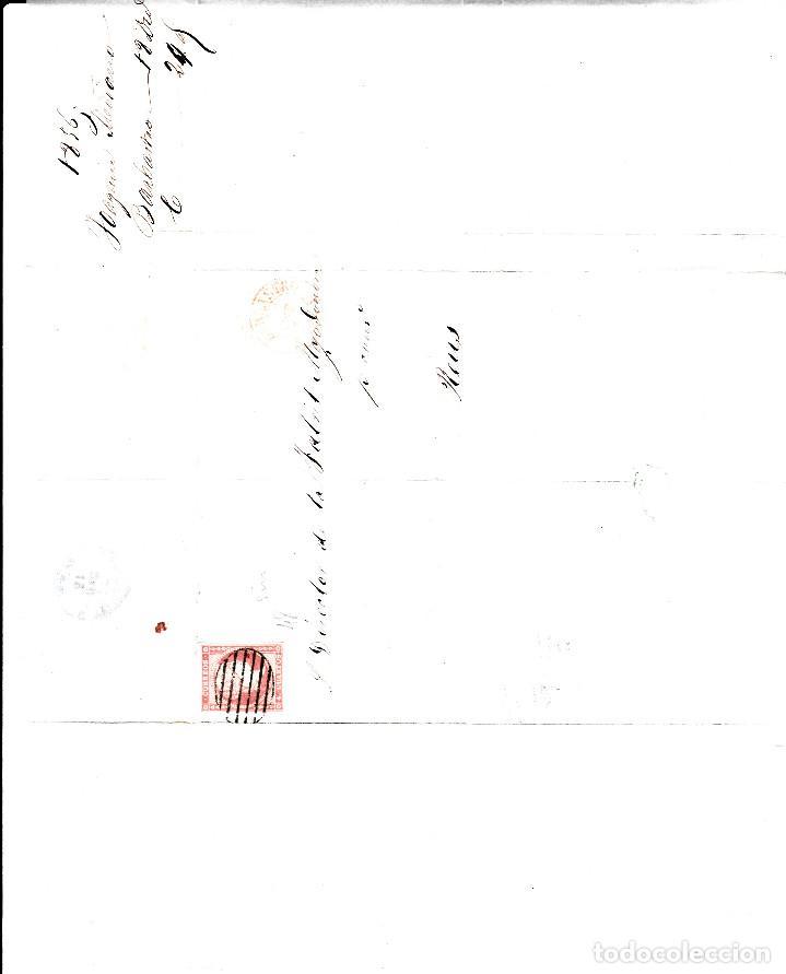 Sellos: CARTA ENTERA CON SELLO NUM. 48 DE JOAQUIN MEDIANO EN BARBASTRO -HUESCA- 1856 - Foto 2 - 156750290