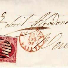 Sellos: CARTA ENTERA CON SELLO NUM. 48 DE JOSÉ SERRA EN XÀTIVA-JÁTIVA -1856. Lote 156754222