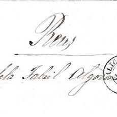 Sellos: CARTA ENTERA CON SELLO NUM. 48 DE BERNARDO ORSÍ EN ALICANTE - 1858. Lote 156756878