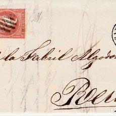 Sellos: CARTA ENTERA CON SELLO NUM. 48 DE GARRIGA HNOS. E HIJOS EN ZARAGOZA - 1858. Lote 156757970