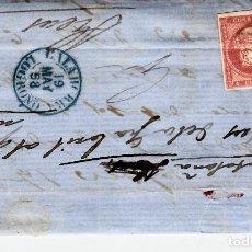 Sellos: CARTA ENTERA CON SELLO NUM. 48 DE ANDRÉS GOMEZ EN CALAHORRA -LOGROÑO - 1858. Lote 156758850