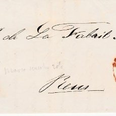 Sellos: CARTA ENTERA CON SELLO NUM. 48 DE IGNACIO MARRO EN BARBASTRO -HUESCA- 1857. Lote 156759330