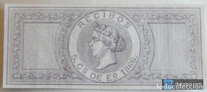 SELLO FISCAL RECIBOS ISABEL II 1866, 5 CÉNTIMOS Nº2 (Sellos - España - Isabel II de 1.850 a 1.869 - Nuevos)