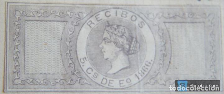 SELLO FISCAL RECIBOS ISABEL II 1866, 5 CÉNTIMOS Nº2 (2) (Sellos - España - Isabel II de 1.850 a 1.869 - Nuevos)