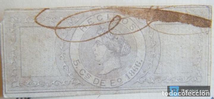 SELLO FISCAL RECIBOS ISABEL II 1866, 5 CÉNTIMOS Nº2 (5) (Sellos - España - Isabel II de 1.850 a 1.869 - Nuevos)