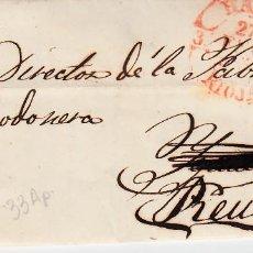 Sellos: CARTA ENTERA CON SELLO NUM. 33 AP DE HILARIO TAVISON EN HARO - LA RIOJA - -1855--. DESTINO REUS. Lote 157237890