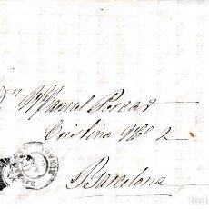 Sellos: CARTA ENTERA CON SELLO NUM. 98 DE SEBASTIAN CASALS EN BARBASTRO (HUESCA) --1869--. Lote 157241066