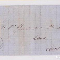 Sellos: CARTA ENTERA DE AVILÉS, ASTURIAS. 1861. LUJO. Lote 157542882