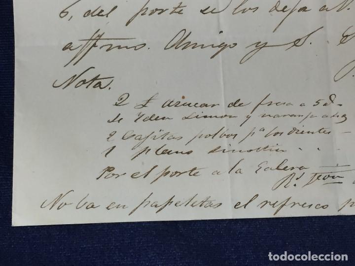 Sellos: carta de burgos villarcayo a madrid 1852 isabel II rojo transporte por galera mercancias 22x16cms - Foto 7 - 158223638