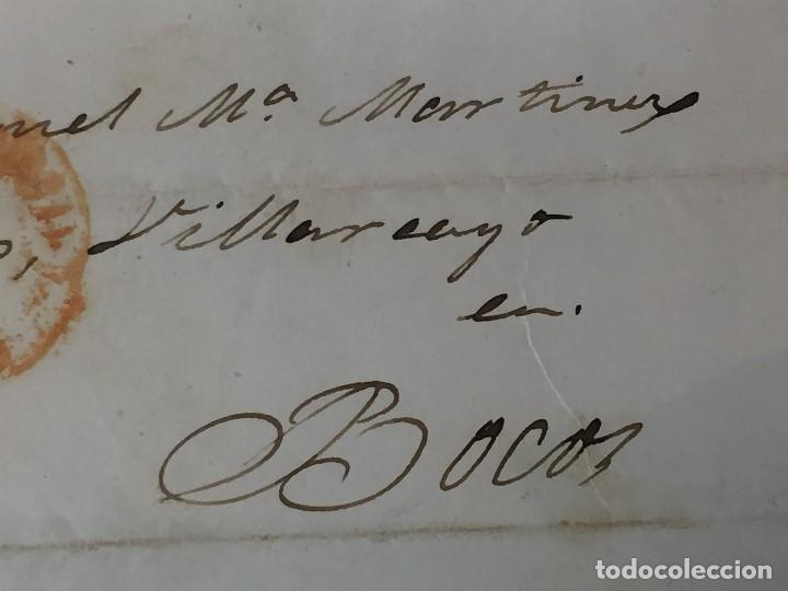 Sellos: carta de burgos villarcayo a madrid 1852 isabel II rojo transporte por galera mercancias 22x16cms - Foto 10 - 158223638