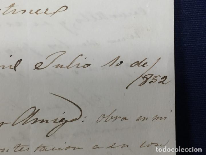 Sellos: carta de burgos villarcayo a madrid 1852 isabel II rojo transporte por galera mercancias 22x16cms - Foto 13 - 158223638