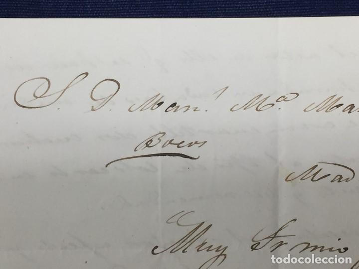 Sellos: carta de burgos villarcayo a madrid 1852 isabel II rojo transporte por galera mercancias 22x16cms - Foto 14 - 158223638