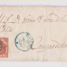 Sellos: ENVUELTA DE OVIEDO A CANGAS DE TINEO, ASTURIAS. 1854. Lote 158473034