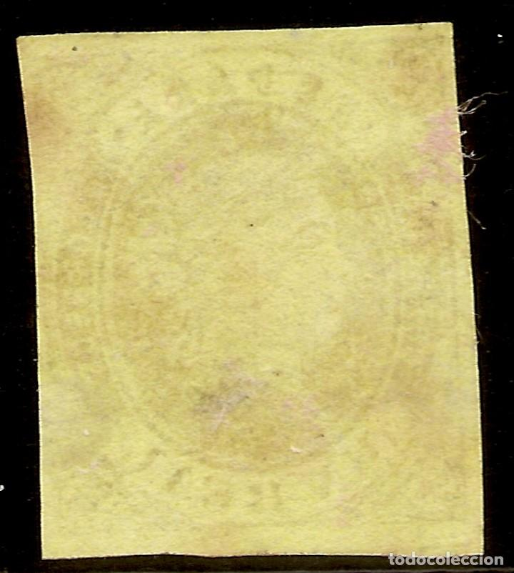 Sellos: España Edifil 61 (*) Mng 1 Real Castaño Isabel II 1862 NL501 - Foto 2 - 159788782