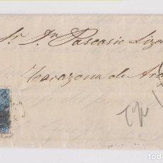 Sellos: CARTA ENTERA. 1866. BILBAO. PAÍS VASCO. RUEDA DE CARRETA. TARAZONA. Lote 159790942