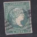 Sellos: ESPAÑA.- SELLO Nº 45 MATASELLADO (EL DE LA FOTO). Lote 159824134