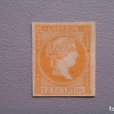 Sellos: ESPAÑA - 1855 - ISABEL II - EDIFIL NE 1 - MH* - NUEVO - MARQUILLADO ROIG - VALOR CATALOGO 215€.. Lote 160311350