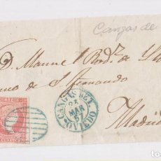 Sellos - PRECIOSO FRONTAL. CANGAS DE TINEO, ASTURIAS. 1857. FECHADOR AZUL - 160675178
