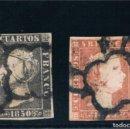 Sellos: ESPAÑA. 6 CTOS Y 5 REALES DE 1850. SELLOS USADOS EDIFIL 1A-3 US. Lote 161095194