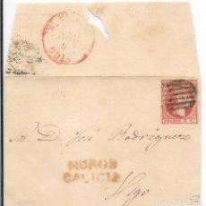 Sellos: EDIFIL Nº 17. ENVUELTA CIRCULADA DE MUROS A VIGO. 1853. Lote 161691110