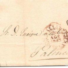 Sellos: EDIFIL Nº 17. ENVUELTA CIRCULADA DE VALLADOLID A PALENCIA. 1853. Lote 161691454