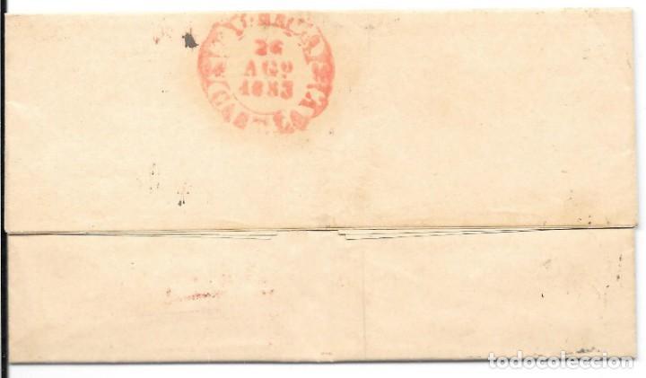 Sellos: EDIFIL Nº 17. ENVUELTA CIRCULADA DE VALLADOLID A PALENCIA. 1853 - Foto 2 - 161691454