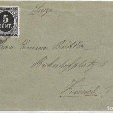 Sellos: EDIFIL Nº 221 - 236. SOBRE CIRCULADO DE GRACIA - BARCELONA A ZURICH - SUIZA. 1898. Lote 161693462