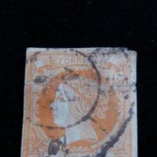 Sellos: SELLO CORREOS, ISABEL II, 4 CUARTOS, AÑO 1861. USADO. Lote 161702834
