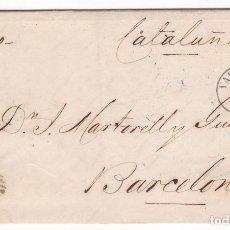 Sellos: CM1-49- CARTA COMPLETA VALENCIA- BARCELONA 1858. Lote 162418626