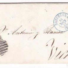 Sellos: CM1-49- CARTA COMPLETA BARCELONA - VICH 1857. Lote 162418682
