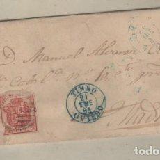 Sellos: SOBRE CON MATASELLO TINEO OVIEDO 1955. Lote 163061518