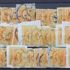 Sellos: 3 FICHAS MÁS DE 120 SELLOS ISABEL II Nº 52.. Lote 163159605